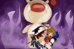 Attack of the Moogle by LadyLaffAlot