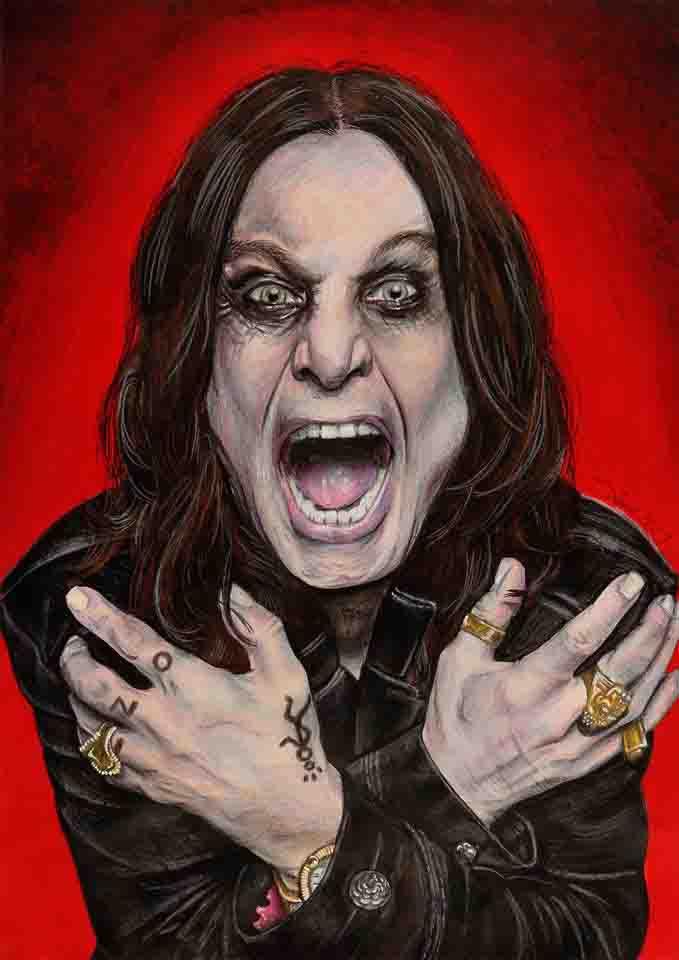 Ozzy Osbourne by Sianypantsart
