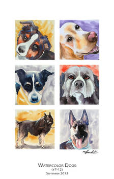 Watercolor Dogs (7-12)