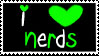 i love nerds stamp by miikkie