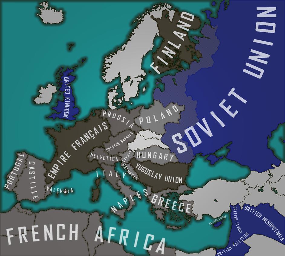 Helvetic-Bavarian Commonwealth - World War 2 by AenMaps