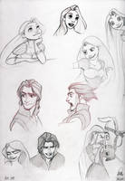 Tangled practice by dennia