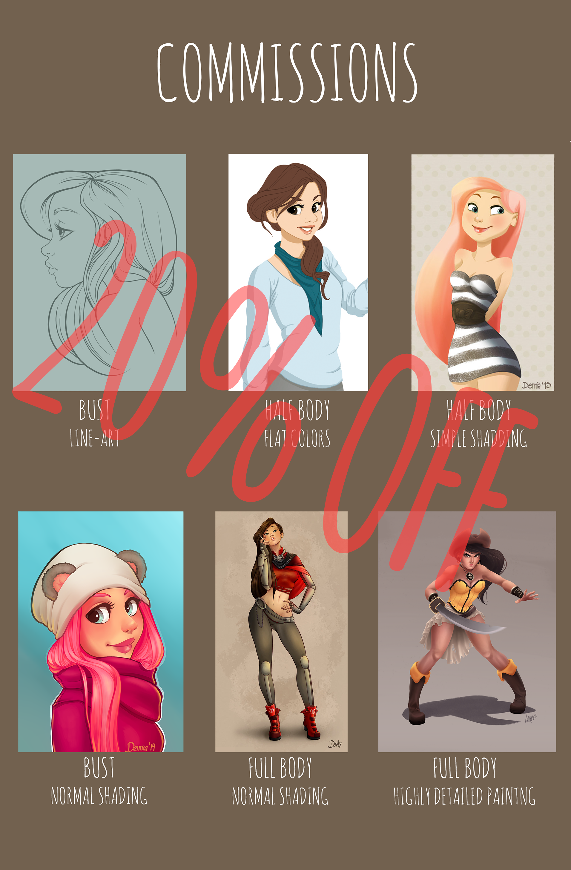 20% OFF in commissions! (CLOSED) by dennia