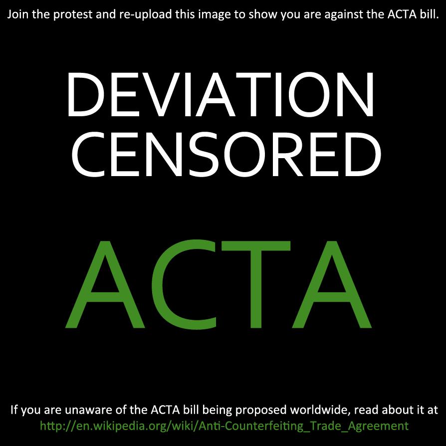 Deviant against ACTA by momomomomomomo