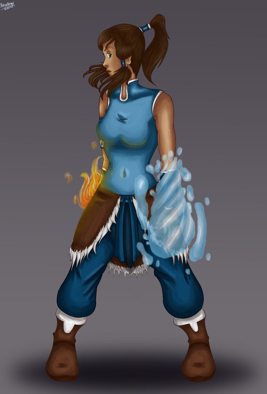 Avatar korra by hazetty