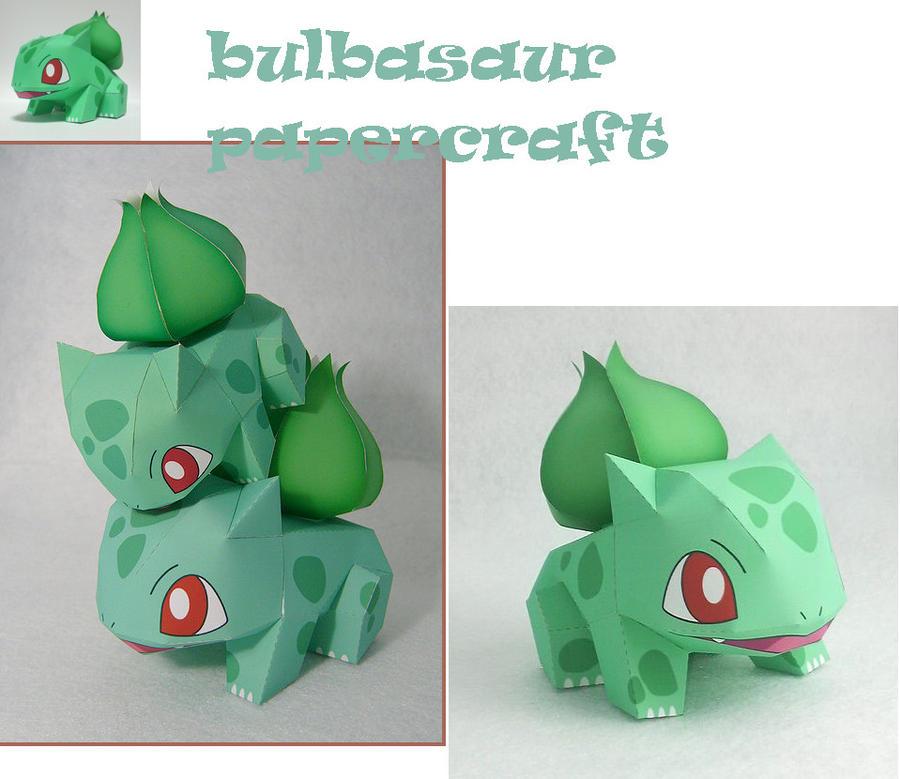 Bulbasaur Papercraft By Aikadarkdragon