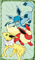 Jolteon - Flareon - Glaceon by angel-of-time