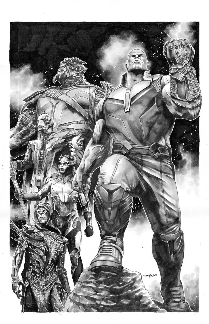 Thanos+BlackOrder by LoadedAtama