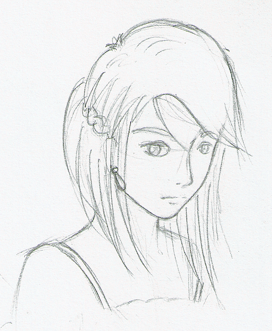 A sketch of a girl face by deshk