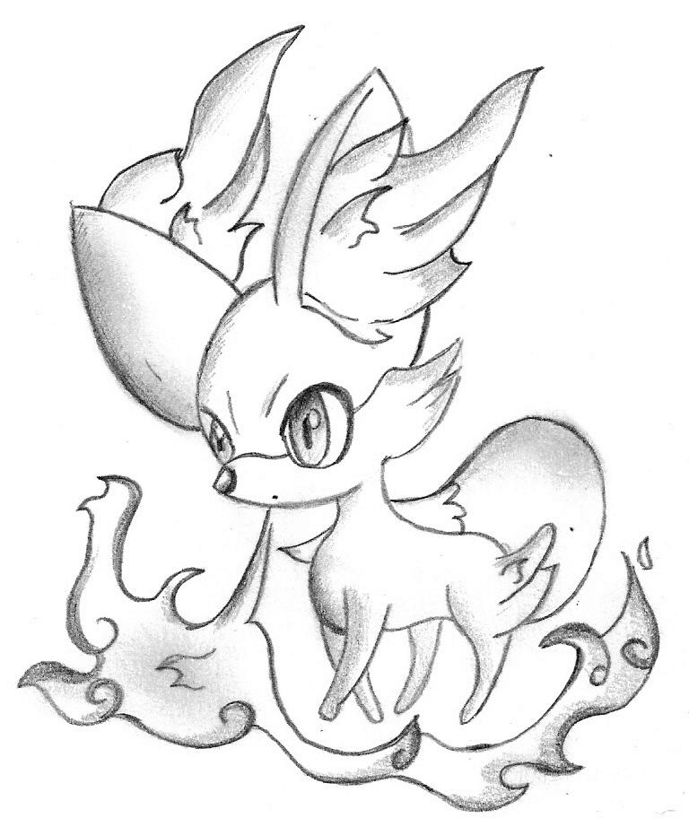 Fennekin Pokemon Coloring Pages