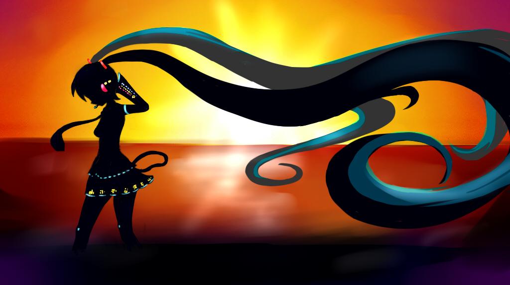 Hatsune miku Sunset by Diegoxpoke