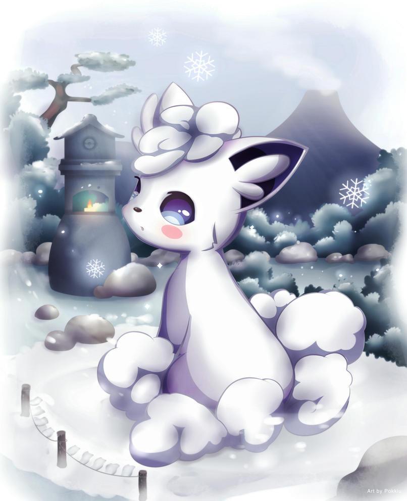 alolan vulpix 3ds alola anime cute fairy gamefreak ice kawaii moon ...