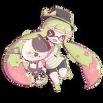 Chibi Inkling Girl by Pokkiu