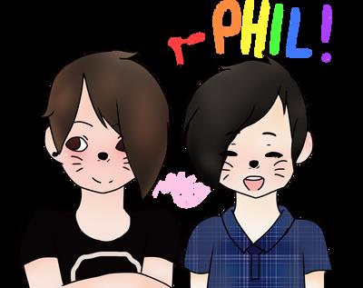 Dan + Phil!  by kittysrllygreetart