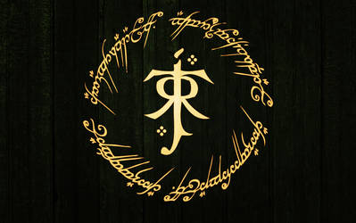 Tolkien logo wallpaper 1440x900 by dmiguez