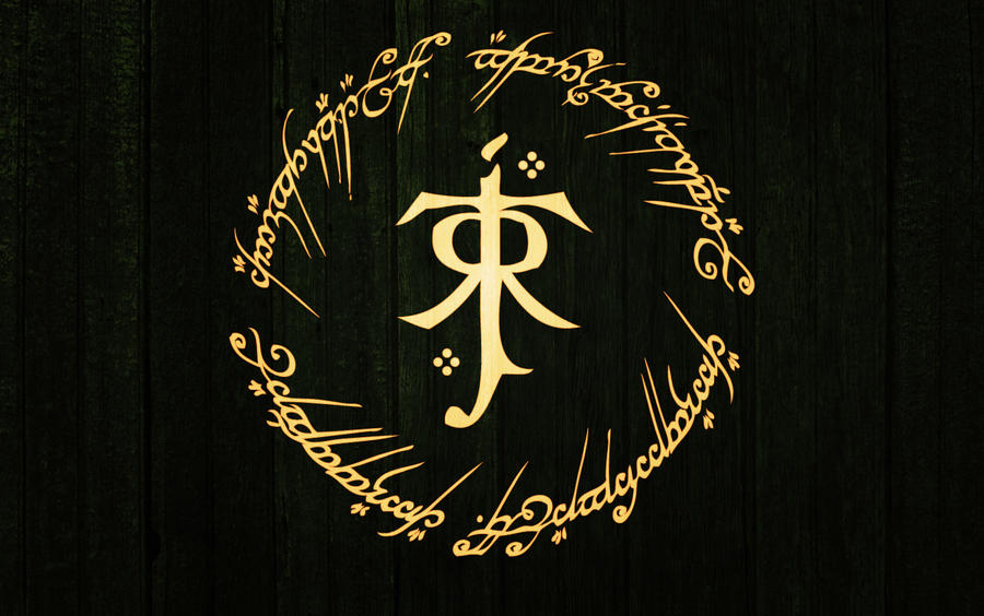 Tolkien logo wallpaper 1440x900 by dmiguez