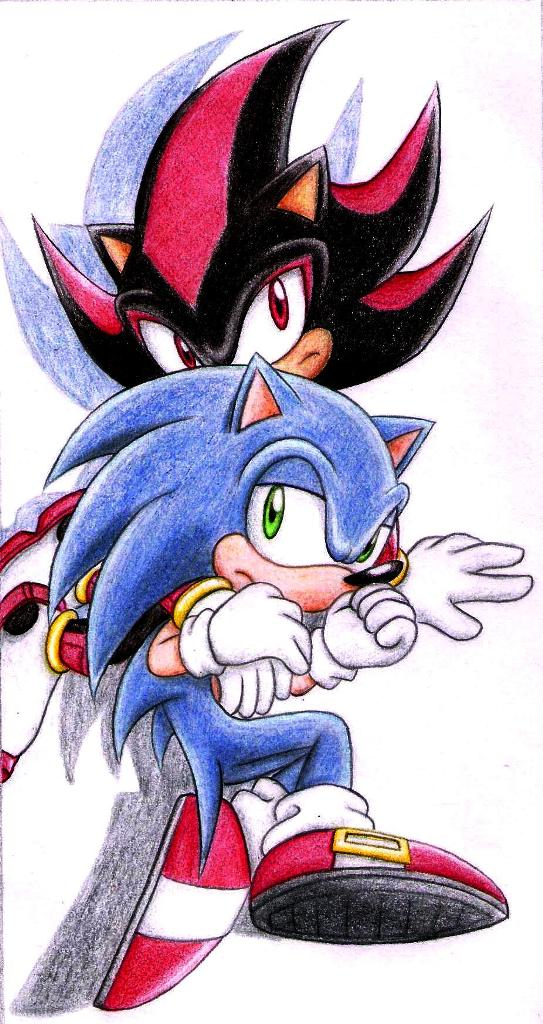 Sonic x shadow by dkute on deviantart - Sonic et shadow ...