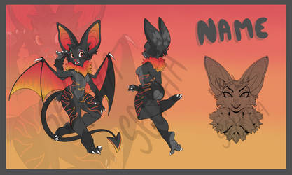 Fire themed Fruit Bat Adopt CLOSED by xSelpha