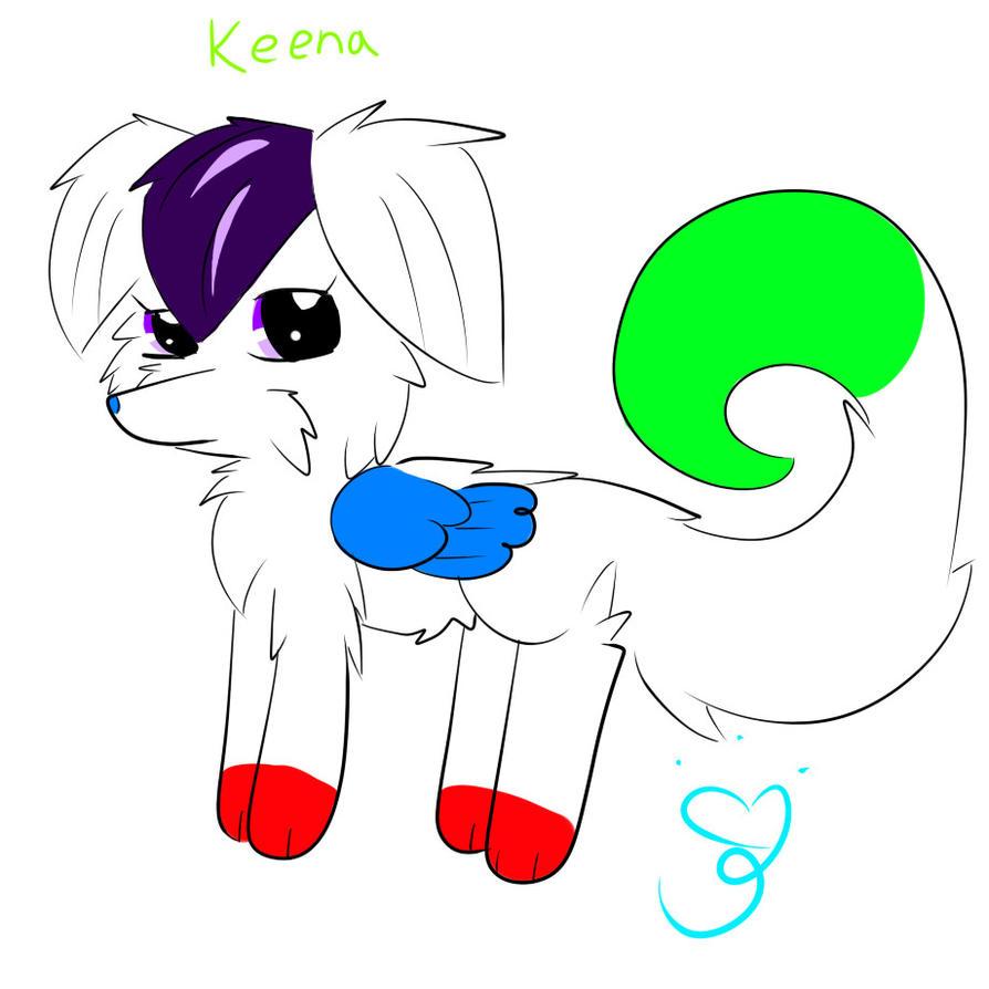 Keena the dog by 88angelfox