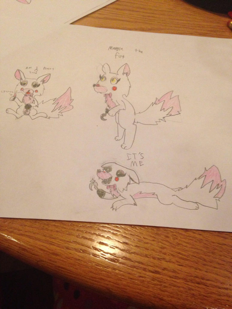 Mangle sketches by 88angelfox