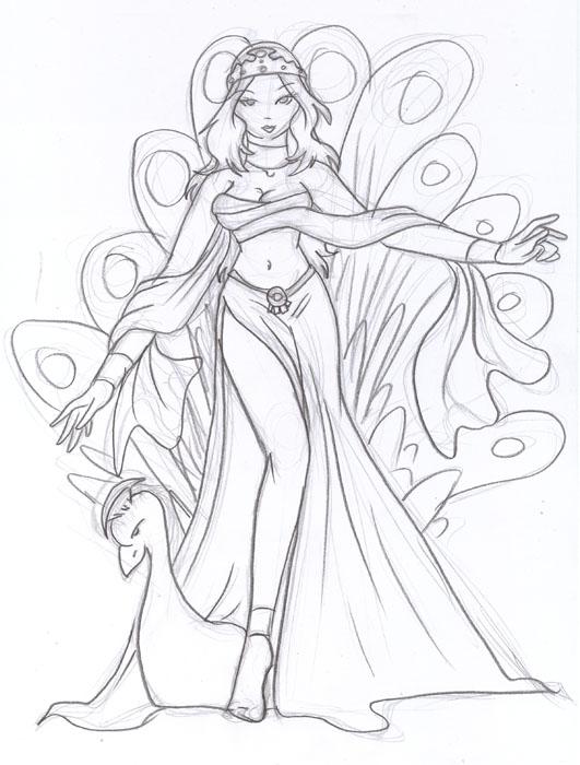 Greek Goddess Hera by PhishRitzy on DeviantArt Hera Drawing Easy