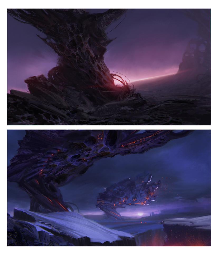 alien landscapes concepts by stefanoscuccimarra