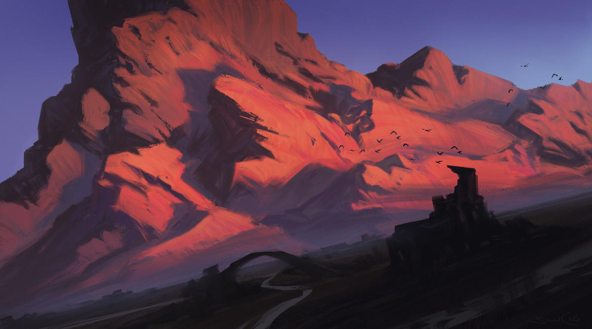 Brainstorm Challange - MTG Mountain Basic Land by stefanoscuccimarra