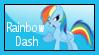 Rainbow Dash Stamp by Illyera