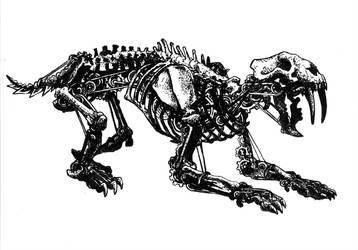 Mechanized Feline Skeleton by jbrenthill