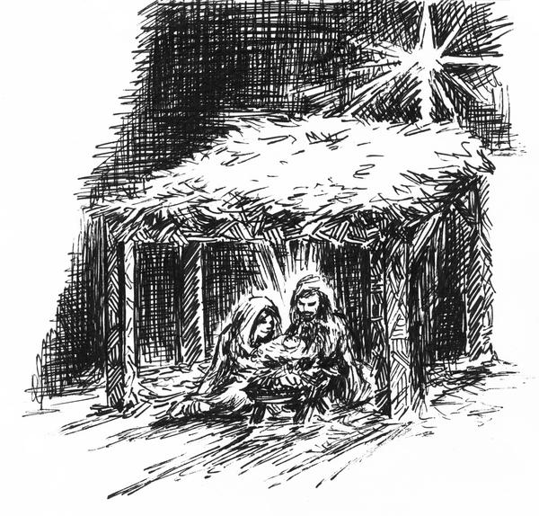 Christmas Birth by jbrenthill