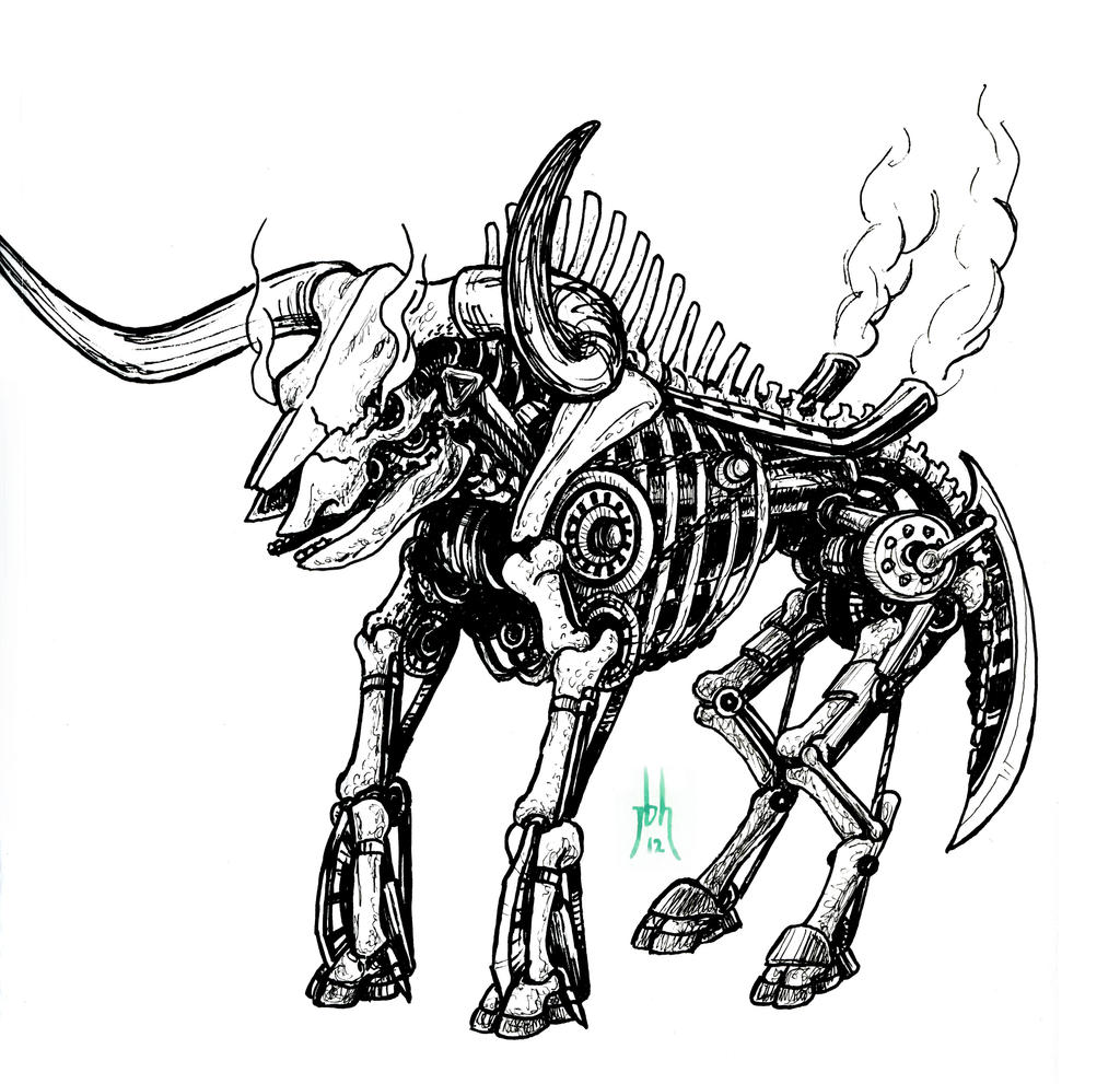 Mechanized Bull Skeleton by jbrenthill