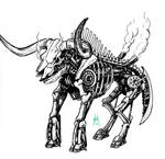 Mechanized Bull Skeleton