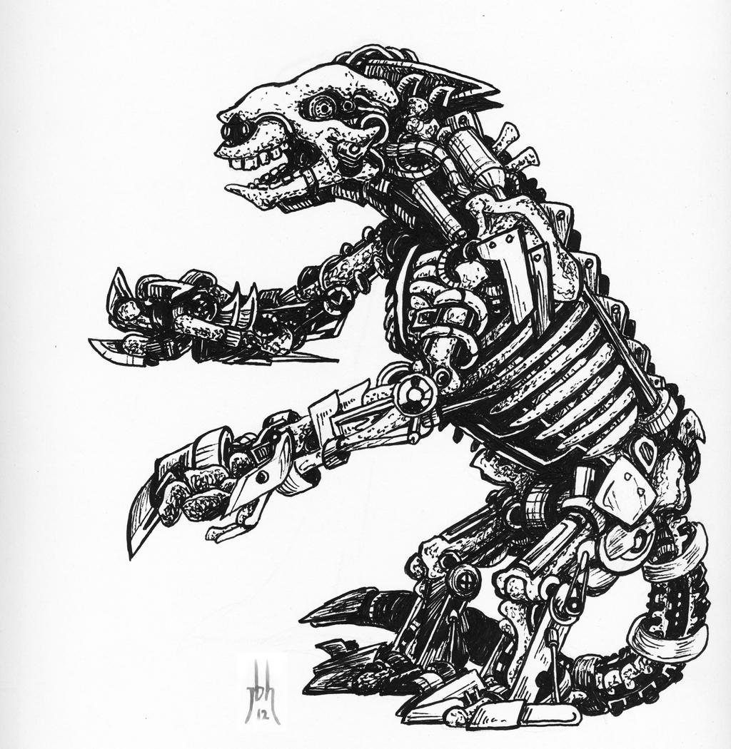 Giant Sloth Skeleton Reanimated by jbrenthill