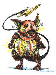 Steampunk Pokemon: Raichu by jbrenthill