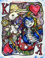 Wonderland King Card by jbrenthill
