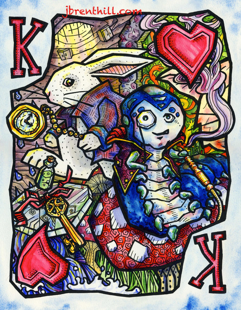 Wonderland King Card by jbrenthill