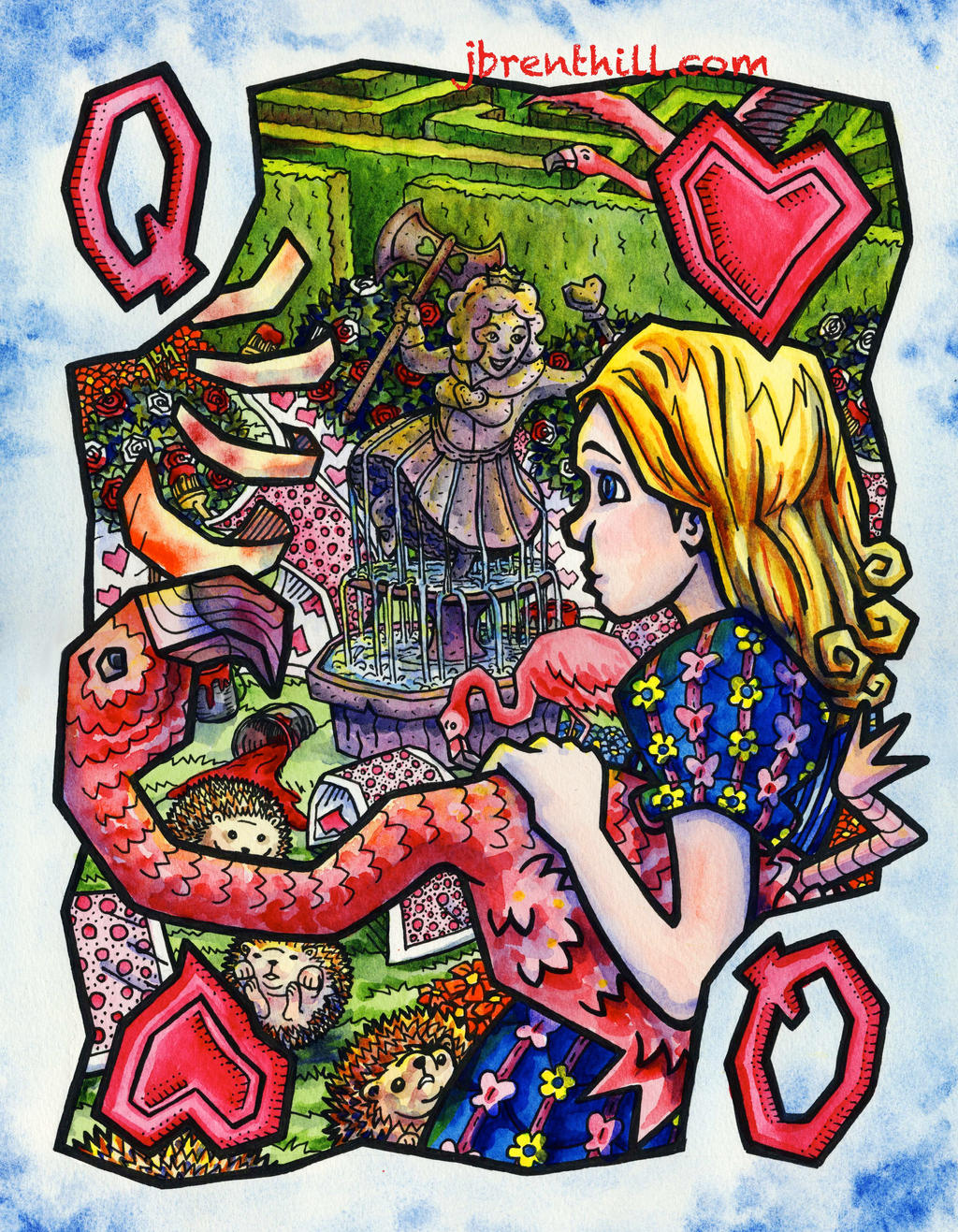 Wonderland Queen Card by jbrenthill