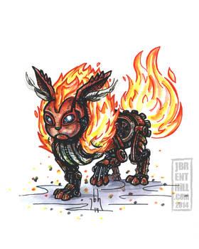 Steam-Powered Pokemon: Flareon