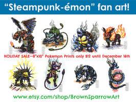 Pokemon Fan Art HOLIDAY SALE!