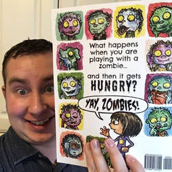 Yay, Zombies! Back Cover and Me! by jbrenthill