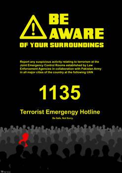 Anti-terrorism Hotline Poster