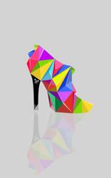 Cubist shoe