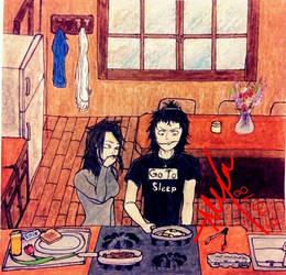 Jeff Makes Ellie Breakfast (KP Series) by AlexAdina