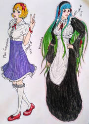 Request: Mai and Honoka OCs of Renata-Greynoria by AlexAdina