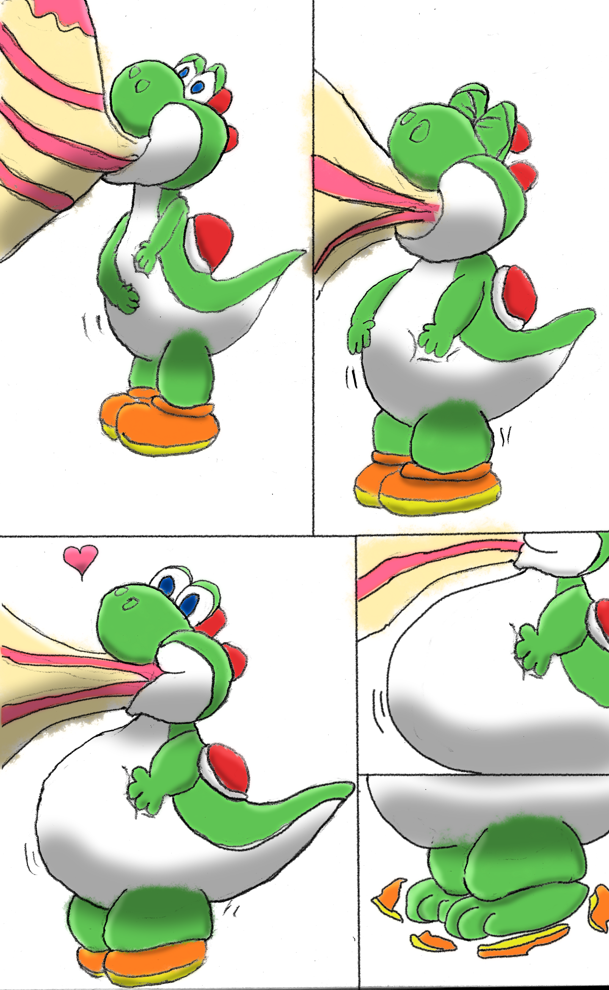 [Comic] Yoshi's surprise 2 of 3 by fatty-piggy