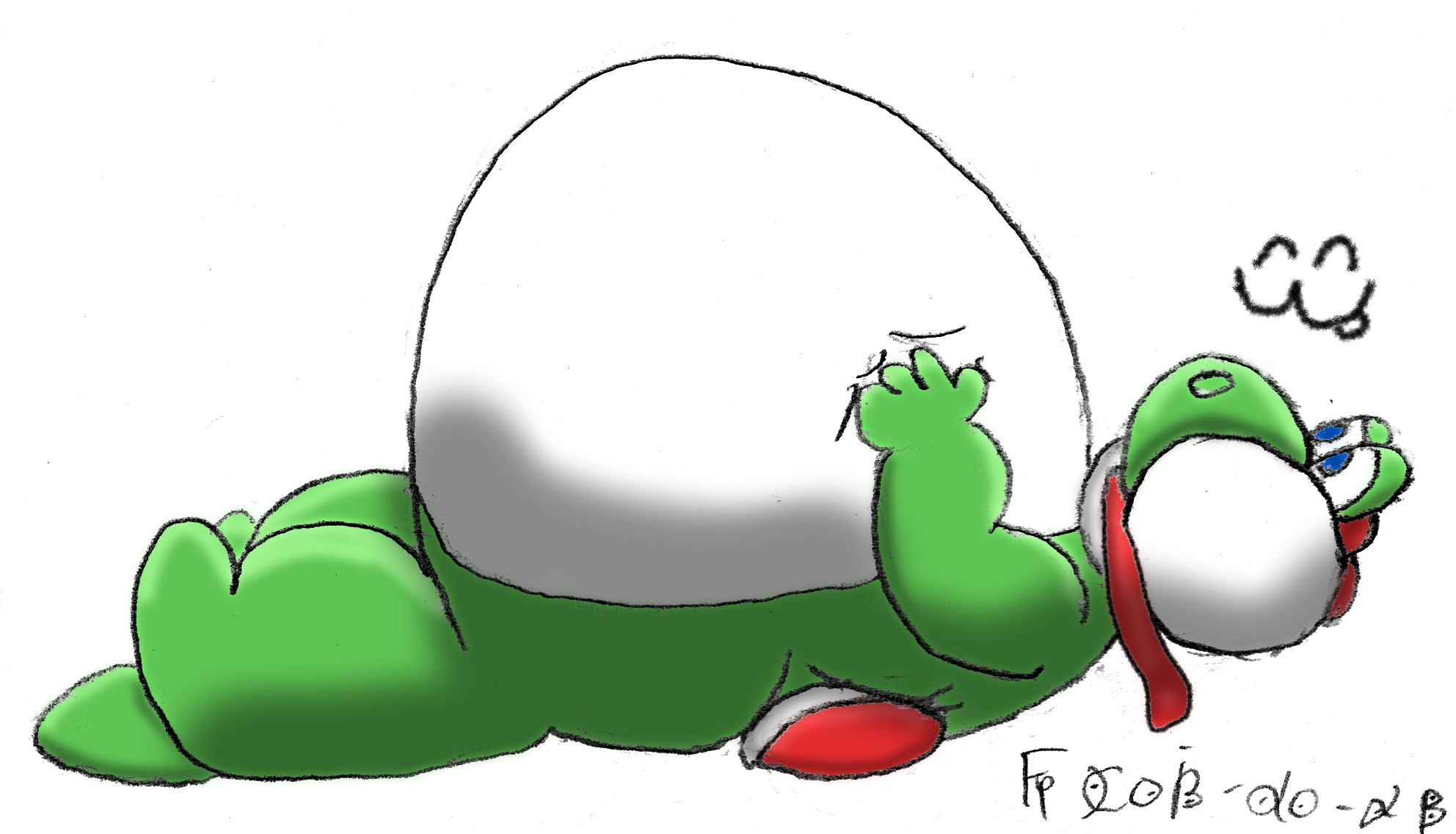 [Comic] Yoshi's surprise 3 of 3 by fatty-piggy