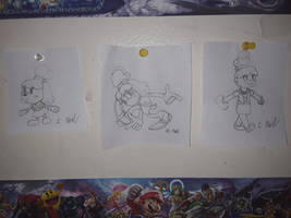 Isabelle in 3 different styles.
