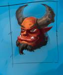 Demon sketch by VIZg