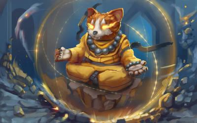 ancient monk by VIZg