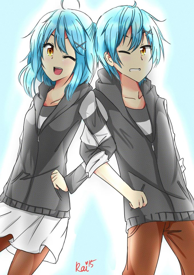REQ - Blue Haired twin ? by Hikari-Hany